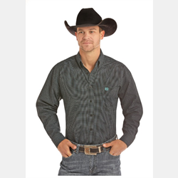 Panhandle Men's Black Purple Turquoise Snap Front Western Shirt