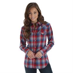 Wrangler® Western Shirt Red/Blue