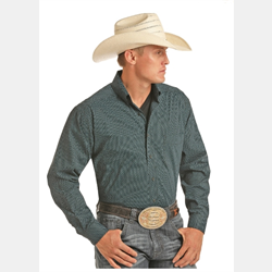 Panhandle Tuf Copper Performance Stretch Poplin Print Shirt