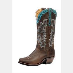 Boulet Ladies Cutter Toe Selvaggio Wood Cowboy Boots