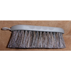 BRUSH/PC/ST220-CHA/SILVER POLY HORSEHAIR BLEND BRUSH