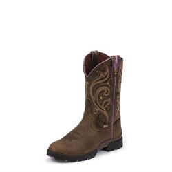 Justin Ladies Lovebug Barnwood Crackle Cowboy Boots