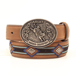 Ariat Boys Tan Belt with Diamond Shaped Accents