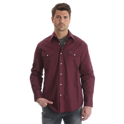 Authentic Cowboy Cut® Work Shirt - Flannel Lined Burgundy