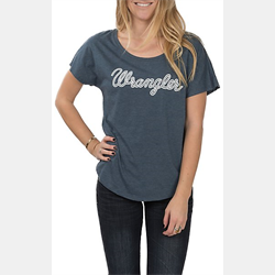Wrangler Womens Grey Relaxed T-Shirt with Logo