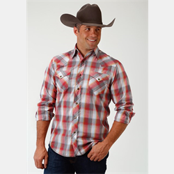 Roper Men's Western Style Shirt Red Plaid