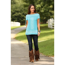 Wrangler® Western Turquoise Top