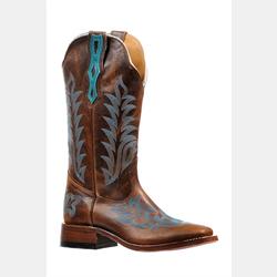 Boulet Ladies Wide Square Toe Cowboy Boots
