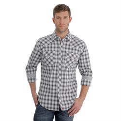 Wrangler Men's Competition Advanced Comfort Black White Shirt