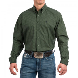 Cinch Men's Forest Green Print Western Shirt