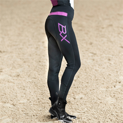 B Vertigo BVX Beatrix Women's Riding Stretch Tights FS Black Pink