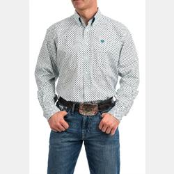 Cinch Men's Tencel Blue Print Button Down Western Shirt