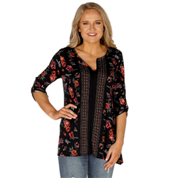 Roper Ladies Floral Print Tunic