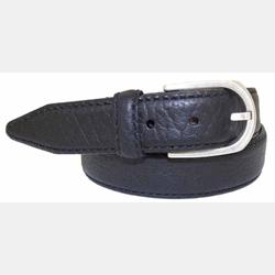 Lejon Vintage Bison Men's Leather Black Pinnacle Belt