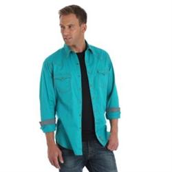 Wrangler Men's Retro Premimum Teal Western Shirt
