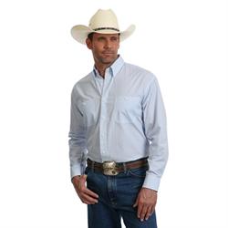 Wrangler George Strait Blue and White Star Pattern Shirt