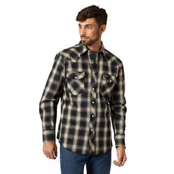 Wrangler Men's Advanced Comfort Work Tan Black Shirt