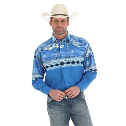 Wrangler® Checotah® Western Blue Eagle Shirt