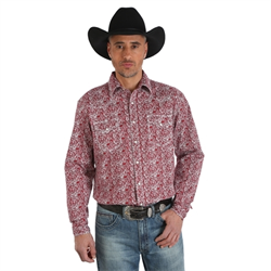 Wrangler 20X Competition Shirt Red Paisley
