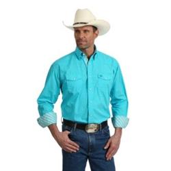 Wrangler George Strait Troubadour Turquoise Snap Western Shirt