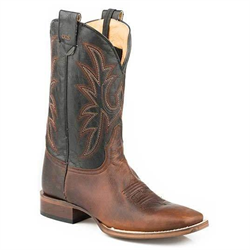 Roper Conceal Carry Brown Black Cowboy Boot
