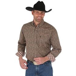 Wrangler's George Strait Men's Brown Paisley Shirt