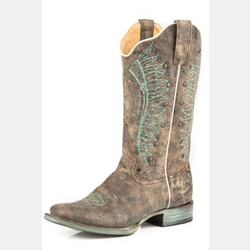 Roper Ladies Turquoise Vintage Chief Cowboy Boots