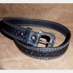 Ranger Mens Hand Tooled Carved Chestnut Belt