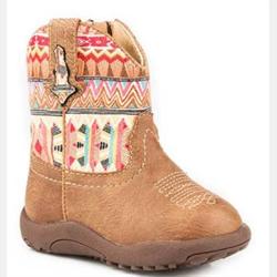 Roper Tan Azteka Boots Newborn