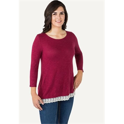 Noble Outfitter Women's Sierra Cranberry Top