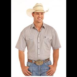 Panhandle Mens Short Sleeve Cotton Shirt Beige