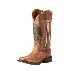 Ariat Women's Thunderbird Thrill Square Toe Brown Boots