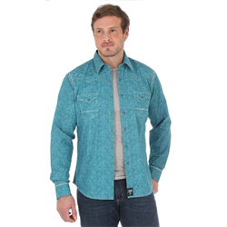 Rock 47® By Wrangler® Western Shirt Turquoise Green