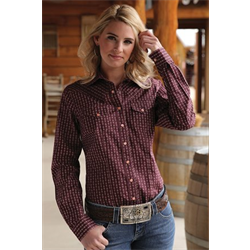 Women's Cruel Girl Arena Fit Western Burgundy