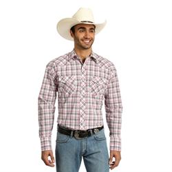 Wrangler Tough Enough To Wear Pink Plaid Shirt