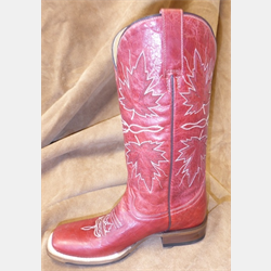 Roper Ladies Red Maple Leaf Cowboy Boots