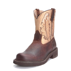 Ariat Ladies Fatbaby Heritage Brown Feather Work Boots