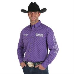 Wrangler® Logo Long Sleeve Shirt Purple Print