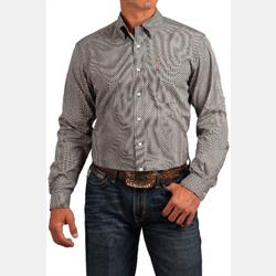 Cinch Men's Light Blue Geo Print Button Down Western Shirt