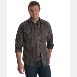 Rock 47® By Wrangler® Western Shirt Red Blue Aztec Plaid