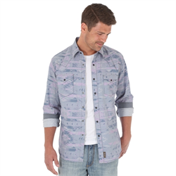 Wrangler® Retro® Shirt Grey Pattern