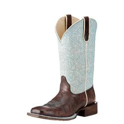 Ariat Women's Circut Savanna Aztec Blue Brown Boots
