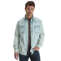 Rock 47® By Wrangler® Western Shirt Washed Denim