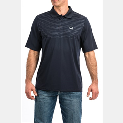 Cinch Arenaflex Embossed Navy Polo Shirt