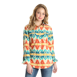 Wrangler Ladies Aztec Design Shirt