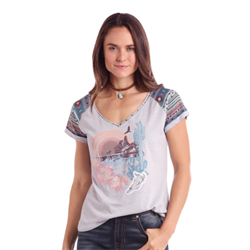 Panhandle Ladies Grey Desert Scene T Shirt