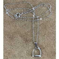 WW/NECKLACE/FT/HNE710/STIRRUP PENDANT SILVER