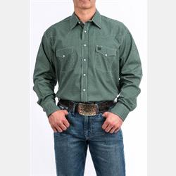 Cinch Men's Hunter Green Circle Geometric Western Shirt