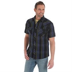 Wrangler® Fashion Snap Short Sleeve Shirt  Black
