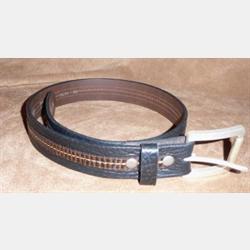 Vintage Bison Men's Leather Belt Pinnacle Black